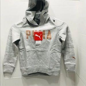 Puma logo girl size 5 sweater